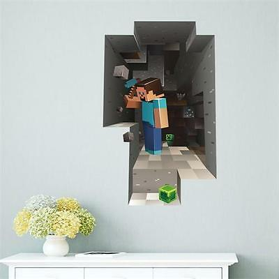 3D Wall Sticker Vinyl Art Decal Mural Poster Kids Boys Girls Video Games