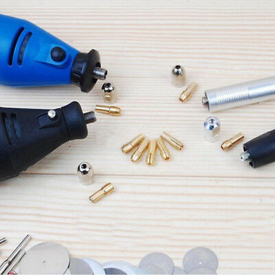 10PCS BRASS DRILL CHUCK COLLET BIT FOR DREMEL ROTARY TOOLS 3.2mm ACCESSORIES