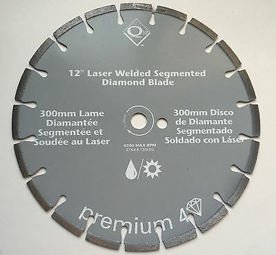 "12"" Laser Welded Segmented Diamond Blade"
