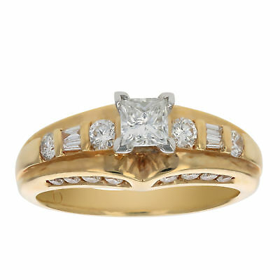 1 CT Diamond Engagement Ring 14K Yellow Gold Size 7