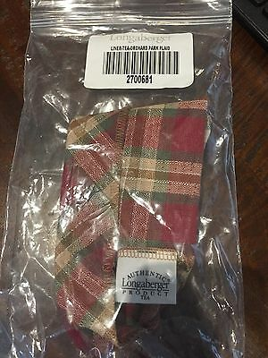 Longaberger Tea Liner - Orchard Park Plaid - New in bag - Free Shipping!