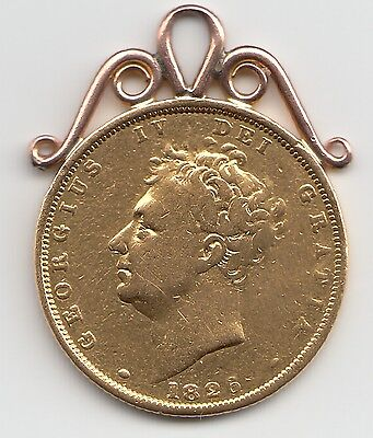 1826 George IV Gold Sovereign - Mounted