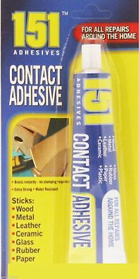 50G New 151 CONTACT ADHESIVE GLUE WOOD METAL LEATHER CERAMIC GLASS RUBBER
