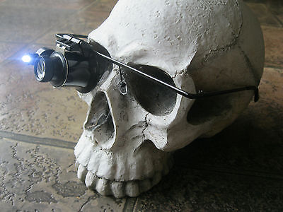 Steampunk Glasses with Monocle Magnifyer LED Light