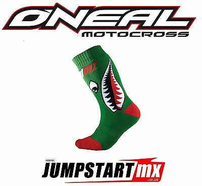 CHRISTMAS Oneal Youths Pro MX motocross quad kids socks Bomber Green