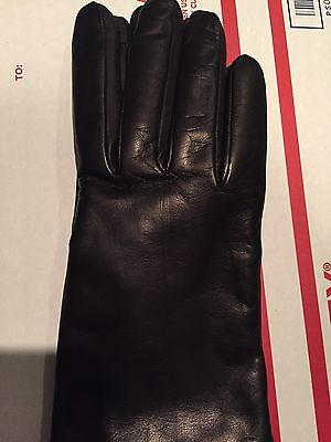 Brand NWT DK BROWN Sz 8 Portolano Cashmere Leather Gloves for Long Fingers, $170