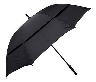 """62"""" Windbuster Umbrella Golf Gifts Gallery Black Course Accessories Inch Polyest"""