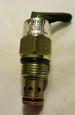 Parker Hydraulic Directional Control Cartridge Valve DL102CL 12GPM 3000PSI C10-2
