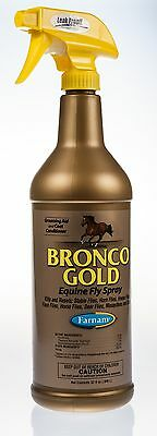 Bronco Gold Equine Fly Spray, 32 oz