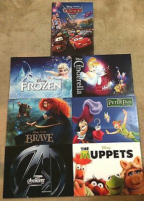 New Disney Store Lithographs Lithograph Exclusive Lot Movies Princess Cars Brave