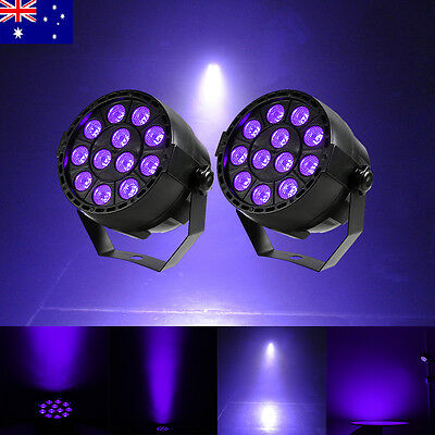 2 PCS 12x3W LED UV Light Par Can KTV Disco Party Bar Effect Stage Lighting Lamp