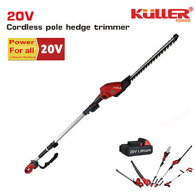 NEW 20V Cordless Lithium Telescope Pole hedge trimmer (Tool only, No Battery)