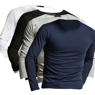 Fashion Winter New Men's Slim Fit Long Sleeve T-shirts Tee Shirt Tops Pullover