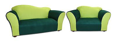 Keet Sofa and Chair Wave Kid's Set, Green