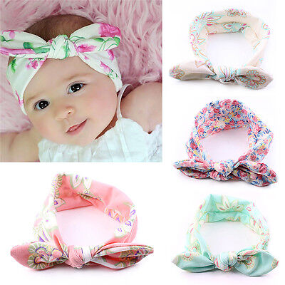 4 pcs Kids Baby Girl Toddler Bowknot Headband Hair Accessorie Band Headwear N8J1