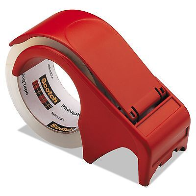Scotch DP300-RD Compact and Quick Loading Dispenser for Box Sealing Tape  3""