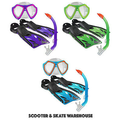 LAND & SEA Kids Nipper Snorkel Set - Includes Mask, Fin & Snorkel in 3 Colours!