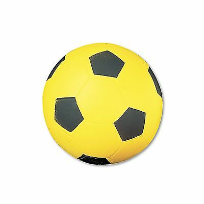 Champion Sports SFC Coated Foam Sport Ball  For Soccer  Playground Size  Yellow
