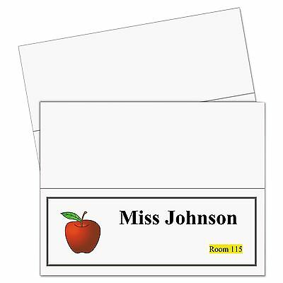 C-Line 87517 Printer-Ready Name Tent Cards  11 x 4 1/4  White Cardstock  50
