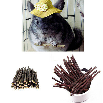 Apple Branch Chew Sticks Rabbits Guinea Pig Parrots Mice Rat Snacks Pet Supplies