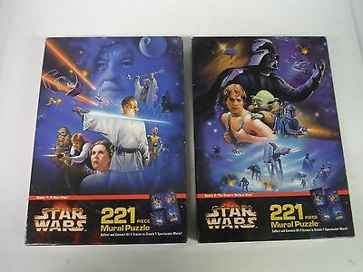 Star Wars Mural Puzzle x 2 Scene 1 A New Hope & 2 Empire Strikes Back