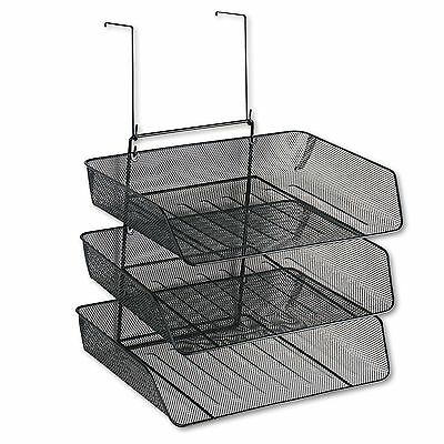 Fellowes 75902 Mesh Partition Additions Three-Tray Organizer  11 1/8 x 14 x 14