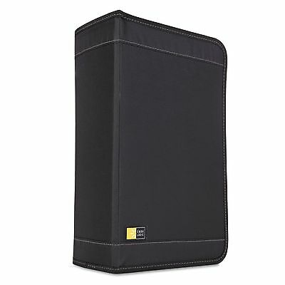 Case Logic CDW-128T CD/DVD Wallet Holds 136 Discs  Nylon  Black