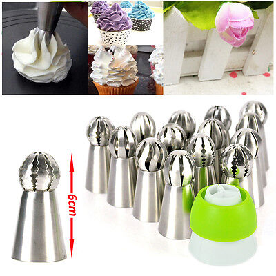 Russian Tulip Sphere Shape Icing Piping Nozzles Cake Decoration Tips Pastry Tool