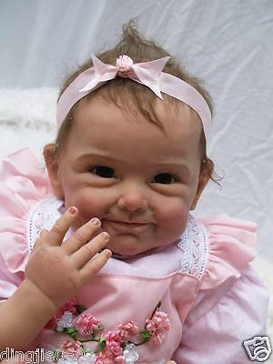 """Sweet 22""""Realistic Reborn Baby Dolls Soft Silicone Vinyl exquisite clthoes Gifts"""