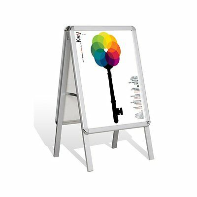 A2 A-Board Aluminium Pavement Sign Poster Snap Frame Advertising Display Stand