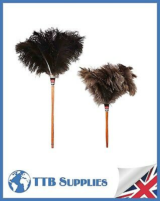 "MULTI PACK Genuine Dustease Premium Ostrich Feather Duster - 20""+ 28"""