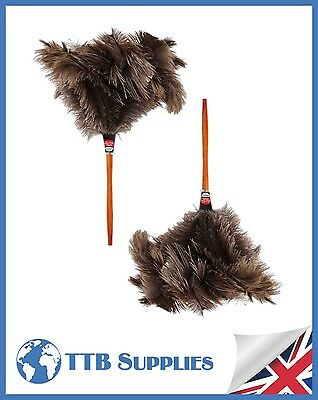 MULTI PACK Genuine Dustease Premium Ostrich Feather Duster - (x2) 20""