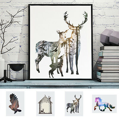 50cmx 60cm Oil Painting PRINT Deer Large Modern Minimalist Art Wall Deco canvas