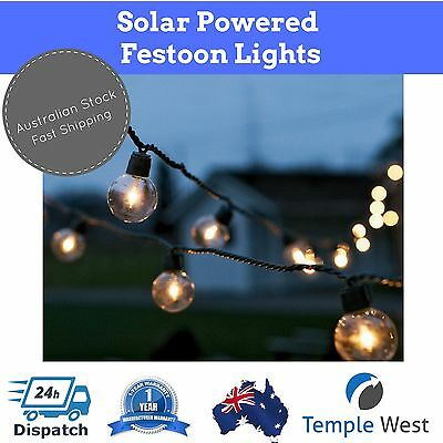 NEW Festoon Lights 2M Solar Powered String LED  Outdoor Christmas Wedding Party