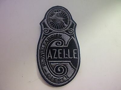 GAZELLE Bicycle Embroidered Patch Crest Badge Emblem Vintage Bicycle