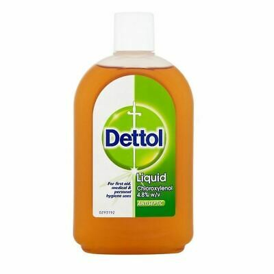 Dettol Antiseptic Disinfectant Liquid 500ml 1 2 3 6 Packs