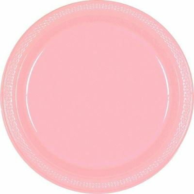 20 Plastic Plate 9in 23cm Baby Pink Colour Wedding Birthday Tableware Party