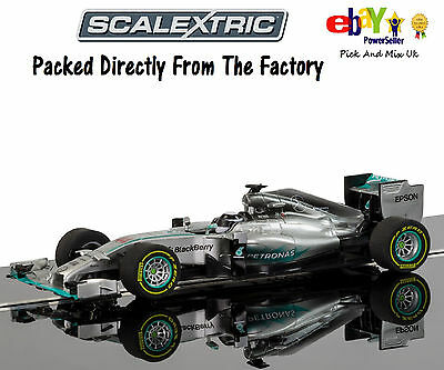 New In Scalextric Slot Car Mercedes F1 Lewis Hamilton (2015) Livery  C3706