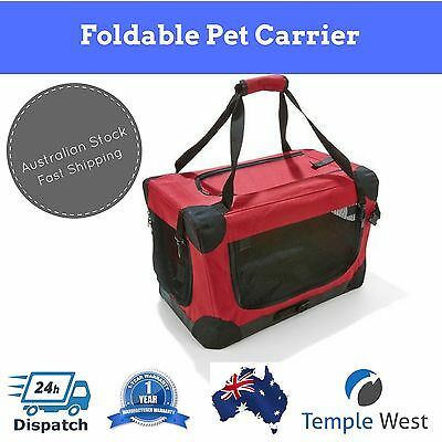 NEW Pet Dog Cat Carrier Portable Foldable Kennel Crate Travel Small / Medium