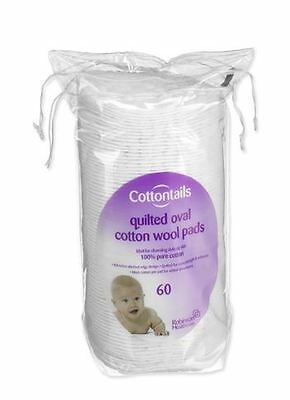 Cottontails Oval Cotton Wool Pads - Pack of 60