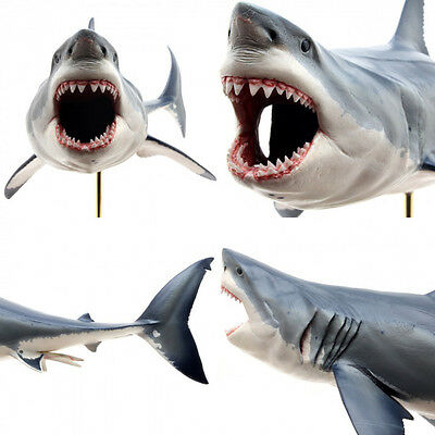 Great White Shark Figure Carcharodon Carcharias Fish Carving KAIYOUKOUBOU F/S