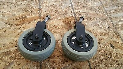 REAR  Casters and Forks for Quickie Pulse 6 Power Wheelchair