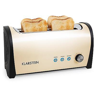 Toaster Fentes Extra Larges 25Cm Design Retro Compact Grille Pain 1400W Creme