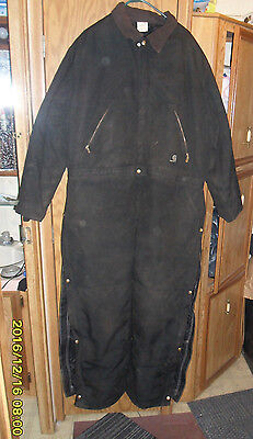 Carhartt X06-BLK Mens Arctic Quilt Lined Yukon Coveralls