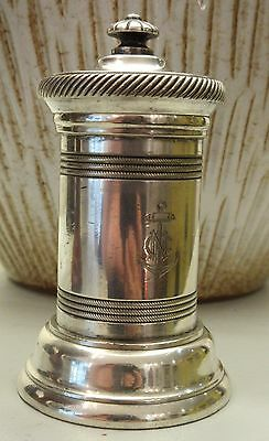 Ancien Moulin à Poivre Christofle Ancre De Marine // Silver Plated Pepper Mill