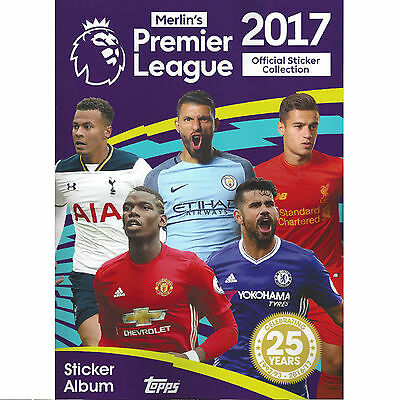 Topps Merlin's Premier League 2017 Football Sticker Album / Book