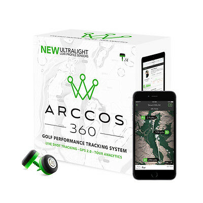 Arccos 360 Golf GPS 2.0 + Real-Time Stat Tracking System (NEW VERSION)