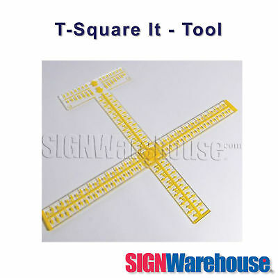 T-Square It!  This tool by SignWarehouse will assist your vinyl cutter plotter