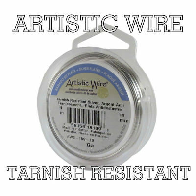 Artistic Wire Silver Plated, Tarnish Resistant Craft Wire SILVER Color 12-28 ga