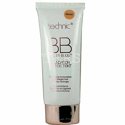 Technic Bb Foundation Beauty Boost Liquid Make Up Face Brightenig Cream Biscuit